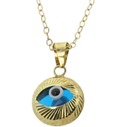 Gold Evil Eye Necklace or Bracelet - Protective, Lucky Evil Eye, 14k Solid Gold  Ask a Question