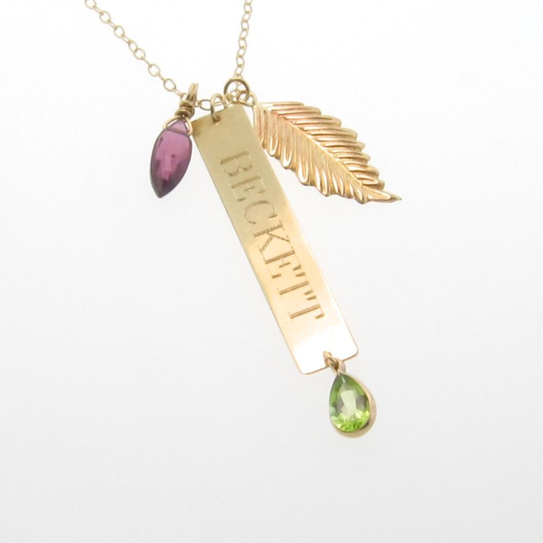 14k gold nameplate necklace vertical gold bar name plate roll over large image to magnify click large image to zoom aloadofball Images