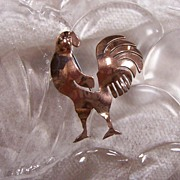 Modernist Rooster Pin in Copper!