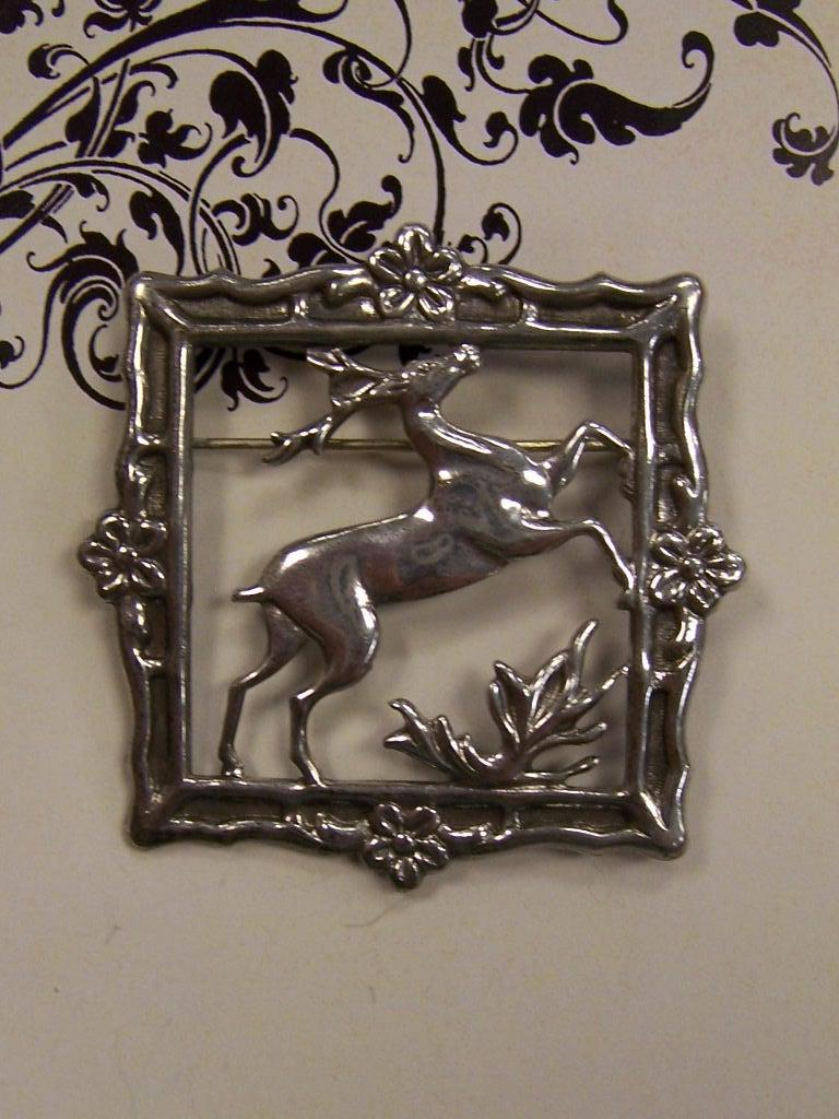 Lang Sterling Silver Figural Buck in Wilderness