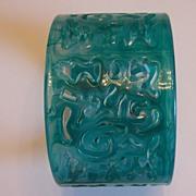 Plastic Molded Mod Filigree Cutout Bracelet