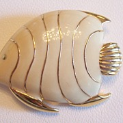Monet Enameled Fish Pin
