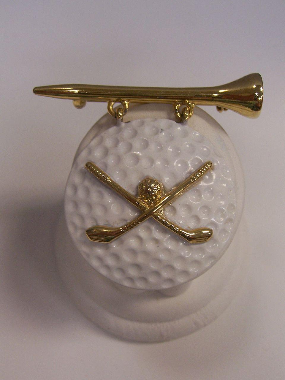 AJC Golf Ball Brooch