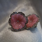 Kenneth Jay Lane AVON Perfect Pansy Clip Earrings