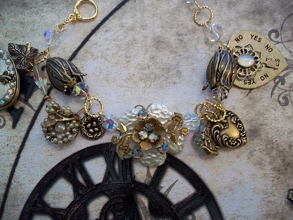 Artisan Steampunk in the Garden Gardenia