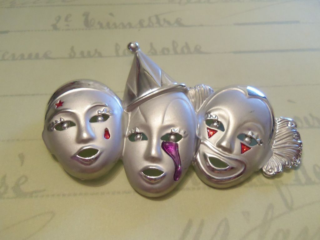 AJC Three Pierrot Brooch