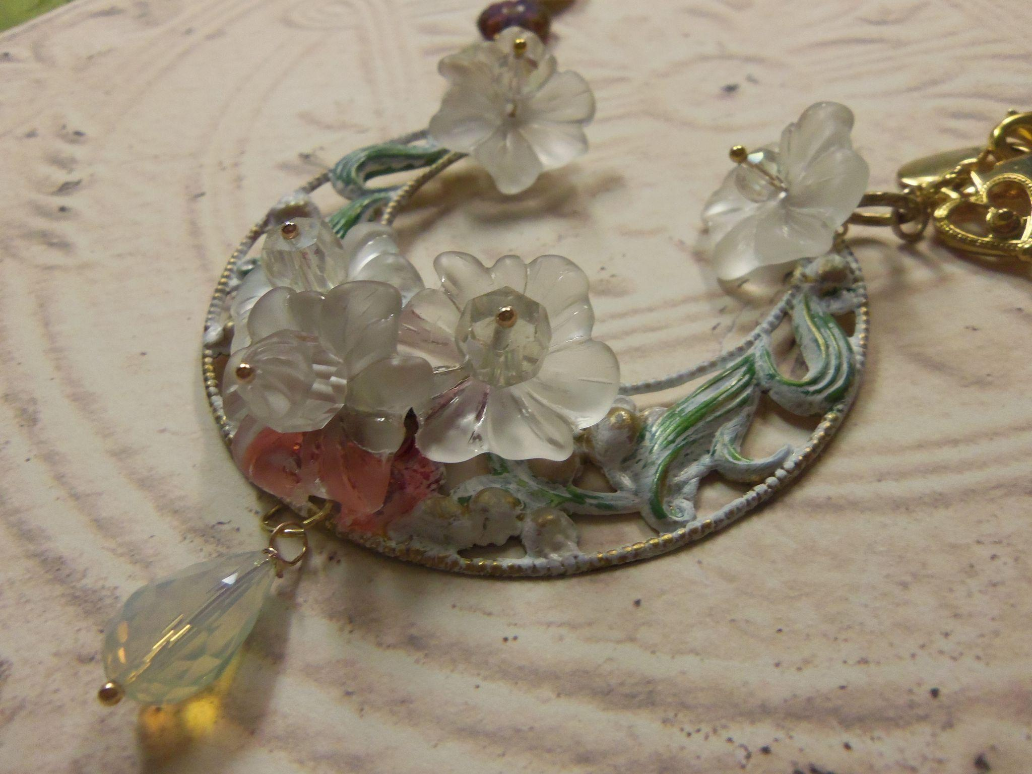 Artisan Necklace Bohemian Bridal Garden