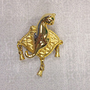 Cat on a Pillow Brooch AVON