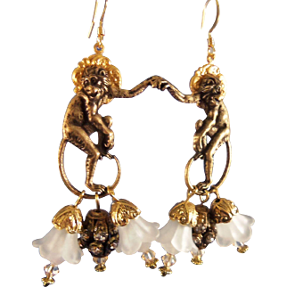 Artisan Earrings Saint Simeon in the Garden