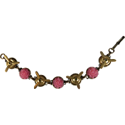 Roses and Propellers Modified Charm Bracelet