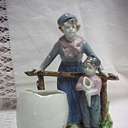 Fine German or French Porcelain Dutch Boys Figurine