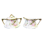 Royal Munich Bavaria Creamer and Sugar Roses