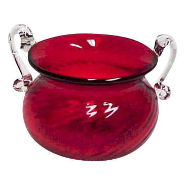 Victorian Cranberry Glass Ladies Spittoon