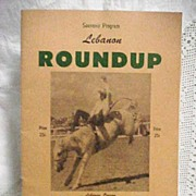 1956 Souvenir Program Lebanon Roundup Oregon Rodeo