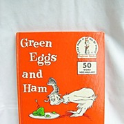 Dr Seuss Green Eggs And Ham 1960 Ist Edition