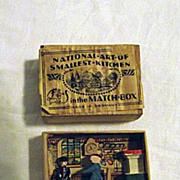 Antique National Art of Smallest Kitchen in the Matchbox Germany