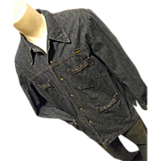 Wrangler 1970's Mens Denim Shirt Jacket M Pearl Snaps Boho Hippie