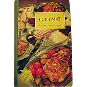 RARE God Mat JW Cappelens Forlag Good Food 1955 Oslo Cookbook Norwegian Language