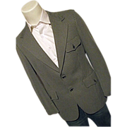 Vintage 60's Hart Schaffner & Marx Mens Gray Pattern Blazer Sport Coat 40 Wide