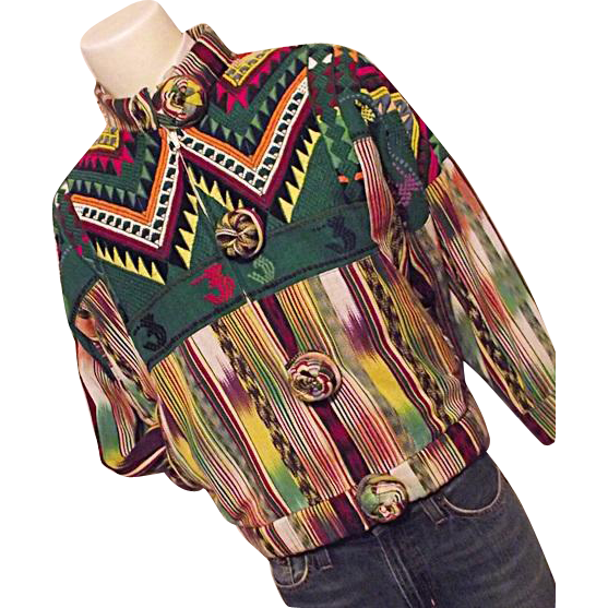 fantastic regional u0026 39 s guatemala hand woven mens m womens lg jacket sold on ruby lane