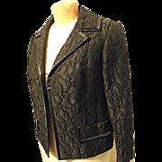 FABULOUS Vintage 1960's Dynasty Womens Black Brocade Dress Jacket 12 High Quality