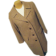 Vintage Pendleton Woolen Mills Womens Brown Tweed 100% Wool Dress Coat Medium