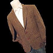 Vintage LTD Clothes Mens Brown Wool Tweed Hunters Blazer Sport Coat Flecks 42