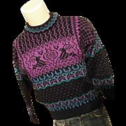 Vintage Dale of Norway Mens Classic Crewneck 100% Wool Sweater XS Reindeer