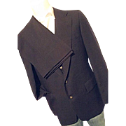 NICE Vintage Polo Ralph Lauren Mens Blue Wool 3PC Suit 40L Jacket Vest Pants 36