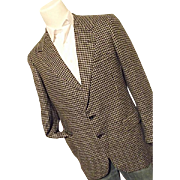 Vintage Oxxford Clothes Pure Crown Cashmere Mens Blazer Black Tweed 41 L