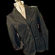 AUTHENTIC Prada Italy Womens Vintage 1990's Black Cotton Blazer Jacket 42 Small