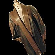 SOFT Vintage Preston & York Womens 100% Genuine Lamb Skin Leather Coat Oversized Sm