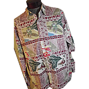 RARE Vintage Reyn Spooner Mele Kalikimaka Mens Hawaiian Christmas Shirt LONG SLEEVE XL