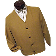 KILLER Vintage 1950's Pendleton Woolen Mills Mens Mustard Button Leisure Jacket Medium