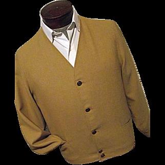 KILLER Vintage 1950's Pendleton Woolen Mills Mens Mustard Button Leisure Jacket Medium