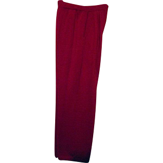 FANTASTIC St John Marie Gray Womens Santana Knit Pants Sz 10 Pleated Front