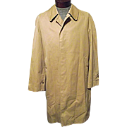 Authentic BURBERRYS' London Mens Traditional Trench Coat Khaki Nova Check Lining Med
