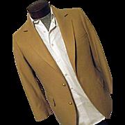 EXCELLENT Vintage Pendleton Woolen Mills Mens Camel Blazer Sport Coat 38 Sm 100% Wool