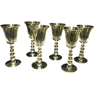 ESTATE Vintage Set of Six Candlewick Imperial Glass #3400 One Ounce Cordials Clear