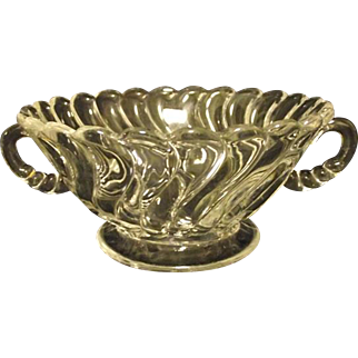 RARE Fostoria Colony Crystal Handled Cream Soup Bowl Footed