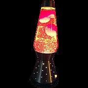 COOL Vintage RETRO 1970'S Lava Simplex Lite Lamp Orange and Yellow in Orig Box WORKS
