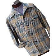 Vintage 1970s Pendleton Mens Plaid 100% Wool Mackinaw Cruiser Jacket Lg