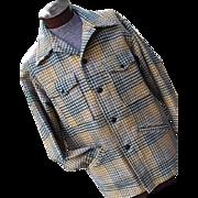 Vintage 1970s Pendleton Mens Plaid 100% Wool Mackinaw Cruiser Jacket Lg