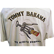 FANTASTIC Vintage Tommy Bahama Mens Silk Hawaiian Shirt M Embroidered One Minute Workout