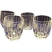 EXCELLENT Discontinued Mikasa Park Lane Set of 4 Double Old Fashions Glasses