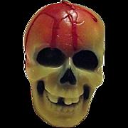 Vintage Halloween Candle Suni USA Large Bloody Skull Unburned
