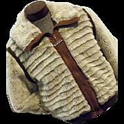 GROOVY Vintage 1970s Mens Weather Tamer Faux Fur Coat Sz 42 HUGGY BEAR MOD