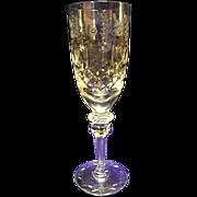 EXCELLENT Disc Rogaska Gallia Etched Champagne Flute