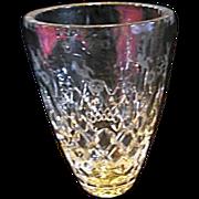 """EXCELLENT Disc Rogaska Gallia Etched 8"""" HEAVY Flower Vase"""