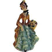 LOVELY Vintage 1959 Goebel Porcelain Flower Lady Figure FF274
